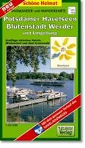 Radwander- und Wanderkarte Potsdamer Havelseen, Blütenstadt Werder und Umgebung 1 :