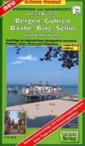 Insel Rügen: Bergen, Göhren, Baabe, Binz, Sellin und Umgebung Radwander- und Wanderkarte 1 :