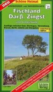 Fischland, Darß, Zingst und Umgebung Radwander- und Wanderkarte 1 :