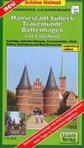 Hansestadt Lübeck, Travemünde, Boltenhagen und Umgebung Radwander- und Wanderkarte 1 :