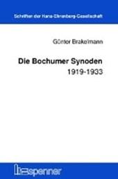Die Bochumer Synoden 1919-1933.