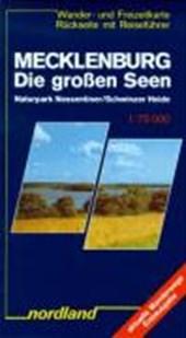 Mecklenburg. Die großen Seen 1 : 75 000. Wander- und Freizeitkarte