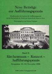 Kirchenraum - Konzert - Aufführungspraxis