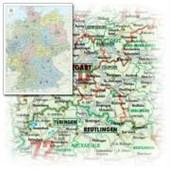 Bacher Orga-Karte Deutschland 1 : 700 000. Gefaltet in Schutzhülle