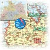 Bacher Postleitzahlenkarte Deutschland Nord 1 : 500 000. Poster-Karte beschichtet