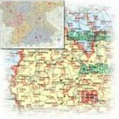 Bacher Postleitzahlenkarte Süddeutschland 1 : 500 000. Posterkarte