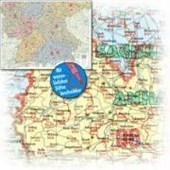 Bacher Postleitzahlenkarte Deutschland Süd 1 : 500 000. Poster-Karte beschichtet