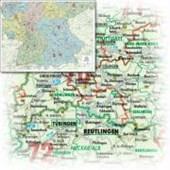 Bacher Orga-Karte Deutschland Süd 1 : 500 000. Poster-Karte