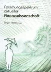 Forschungsspektrum aktueller Finanzwissenschaft