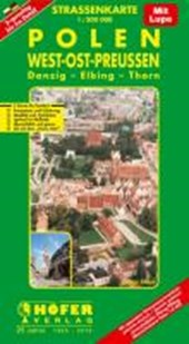 Höfer Polen PL011. West-Ost-Preußen 1 : 200 000. Straßenkarte
