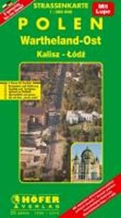 Höfer Polen PL012. Wartheland-Ost/Lodz (Lodsch) 1 : 200 000. Straßenkarte