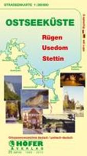 Höfer DE025. Ostseeküste. Rügen-Usedom-Stettin 1 : 200 000. Straßenkarte