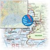 Bacher Postleitzahlenkarte Bayern 1:350 000 Posterkarte folienbeschichtet