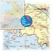 Bacher Postleitzahlenkarte Deutschland Nord-West 1 : 350 000. Poster-Karte foliert