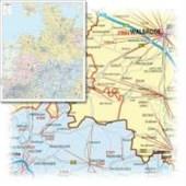 Bacher Postleitzahlenkarte Deutschland Nord-West 1 : 350 000. Poster-Karte Papier