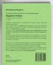 Transparente Folien zum Einheften und Unterteilen der Gesetzessammlungen mit Dürckheim Griffregister
