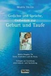 Gedichte und Sprüche, Gedanken zur Geburt und Taufe
