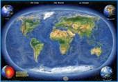 Die Erde Panorama Handkarte