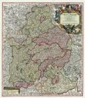 Historische Landkarte: Bayern 1741 - Ober- und Niederbayern mit der Oberpfalz und dem Erzstift Salzburg
