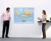 """BACHER Politische Weltkarte """"Die Welt"""" 1 :"""