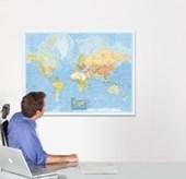 """BACHER Politische Weltkarte """"Die Welt"""" 1 : 44 000 000 deutschsprachig"""