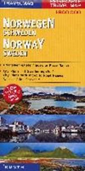 KUNTH Reisekarte Norwegen, Schweden 1 :