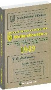 Adreßbuch Einwohnerbuch der Stadt WALTERSHAUSEN 1949 in THÜRINGEN