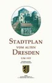Stadtplan vom alten Dresden um