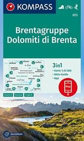 Kompass WK073 Brentagruppe, Dolomiti di Brenta 1:25.000