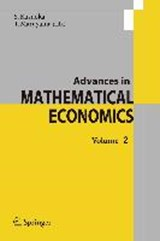 Advances in Mathematical Economics | auteur onbekend |