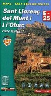 Sant Llorenc del Munt i l`Obac E25 1:25.000 Wanderkarte