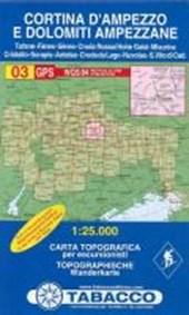 Tabacco Wandern 1 : 25 000 Cortina d`Ampezzo