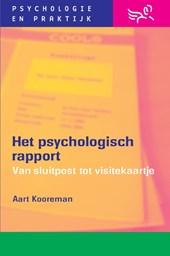 Het psychologisch rapport