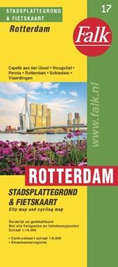 Falk stadsplattegrond & fietskaart Rotterdam e.o. 2016-2018, 48e druk met fietsknooppunten (Capelle, Vlaardingen, Hoogvliet, Schiedam)