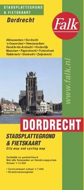 Falk stadsplattegrond & fietskaart Dordrecht 2018-2019, 21e druk met fietsknooppunten