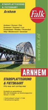 Falk stadsplattegrond & fietskaart Arnhem e.o. 2018-2019, 38e druk met fietsknooppunten