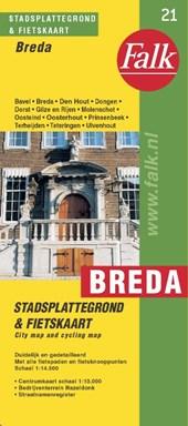 Falk stadsplattegrond & fietskaart Breda e.o. 2018-2020, 35e druk met Oosterhout, Dongen, Rijen, Prinsenbeek