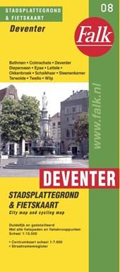 Falk stadsplattegrond & fietskaart Deventer 2018-2019, 9e druk met fietsknooppunten