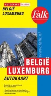 Falk autokaart België Luxemburg classic   9e druk recente uitgave, schaal 1:250.000