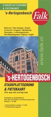 Falk stadsplattegrond & fietskaart 's Hertogenbosch 2017-2019, 31e druk met Vught, Vlijmen, Rosmalen en Berlicum.