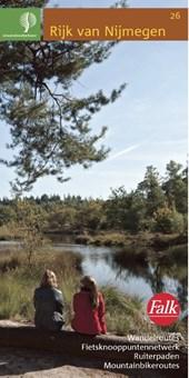 Falk Staatsbosbeheer wandel- en fietskaart 26 Rijk van Nijmegen 2017-2018, 12e druk Wandelroutes, fietsknooppunten netwerk, ruiterpaden, mountainbikeroutes