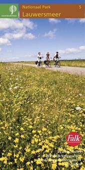 Falk Staatsbosbeheer wandel- en fietskaart 5 Lauwersmeer 2016-2018, 9e druk met wandel- en fietsknooppunten