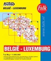 Falk autokaart België-Luxemburg Routiq 2015-2017, 8e druk atlas met ringband