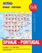 Falk autokaart Spanje-Portugal routiq 2016-2018, 3e druk atlas met ringband