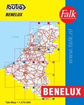Falk autokaart Benelux routiq 6e druk recente uitgave