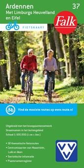 Falk VVV fietskaart 37 Ardennen, Limburgs Heuvelland en Eifel  2016-2018, 1e druk met fietsknooppunten