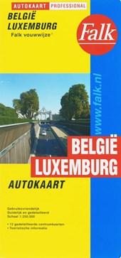 Autokaart Belgie Luxemburg