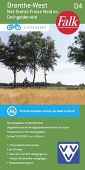 Falk VVV fietskaart 04 Drenthe-West 2017-2018, 10e druk Drents-Friese Wold en Dwingelderveld