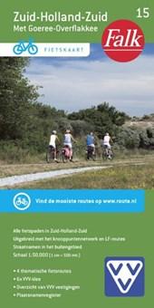 Falk VVV fietskaart 15 Zuid-Holland Zuid 2017-2018, 9e druk Goeree-Overflakkee, Hoeksche Waard en Rotterdam