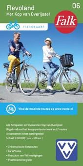 Falk VVV fietskaart 06 Flevoland met Kop van Overijssel 2016-2018,